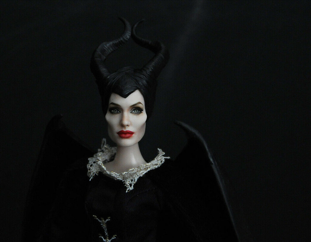 Maleficent: Mistress of Evil on https://www.ebay.com/usr/ncruz_doll_art up for auction this #ooak #repaint by ncruz.com if you love #AngelinaJolie & #Maleficient this is a must for your collection! #MaleficentMistressOfEvil