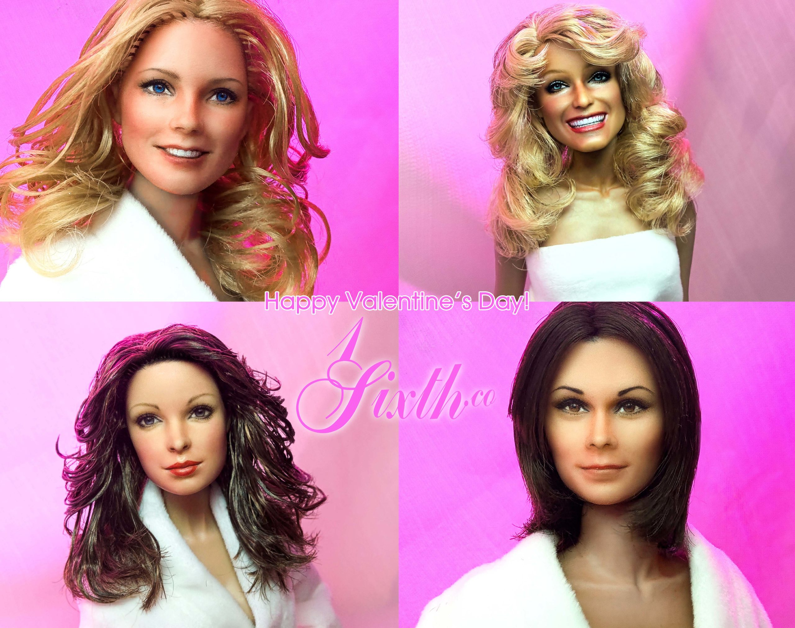Happy Valentine's Day to you all from https://1sixth.co/ & https://1sixthworld.com/ Celebrating the holiday with Cheryl Ladd, Farrah Fawcett, Jaclyn Smith and Kate Jackson as repainted by artist Noel Cruz!