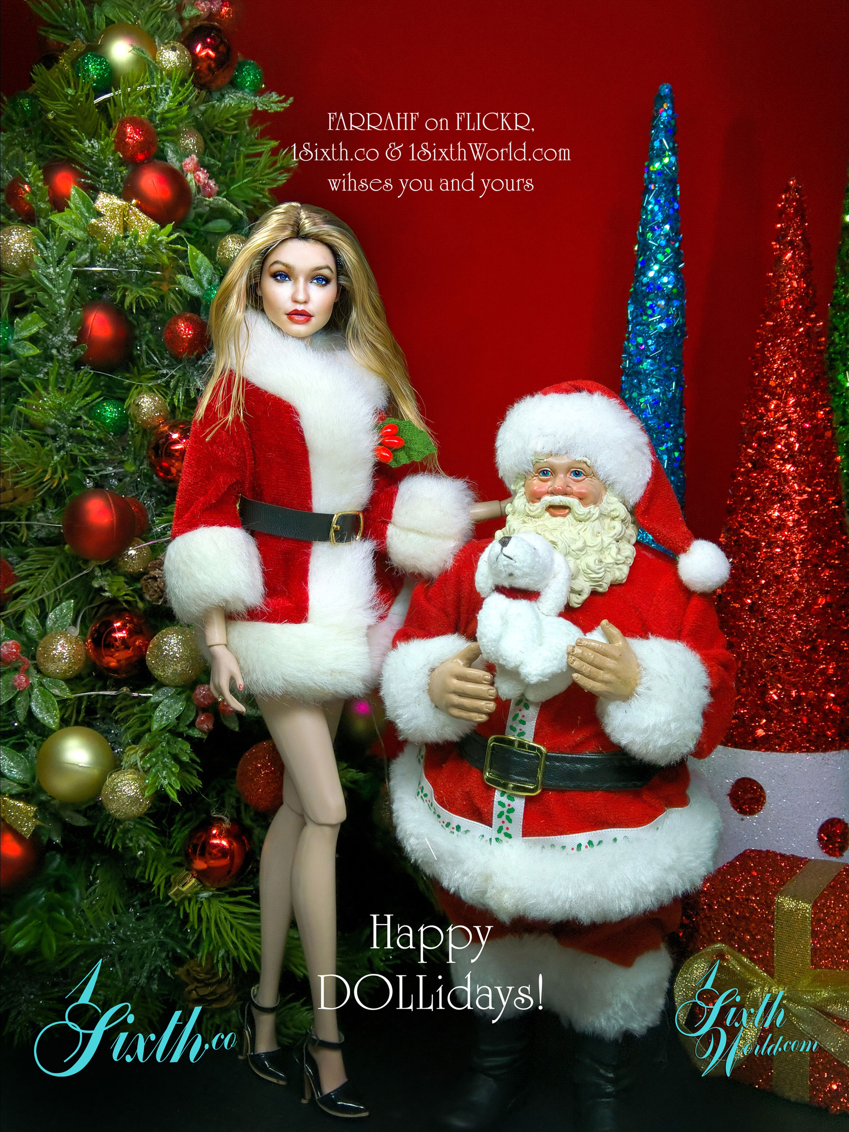 Happy DOLLidays!  From https://1sixthworld.com & https://1sixth.co & https://www.flickr.com/photos/farrahf/ A safe and healthy holiday season to you all.